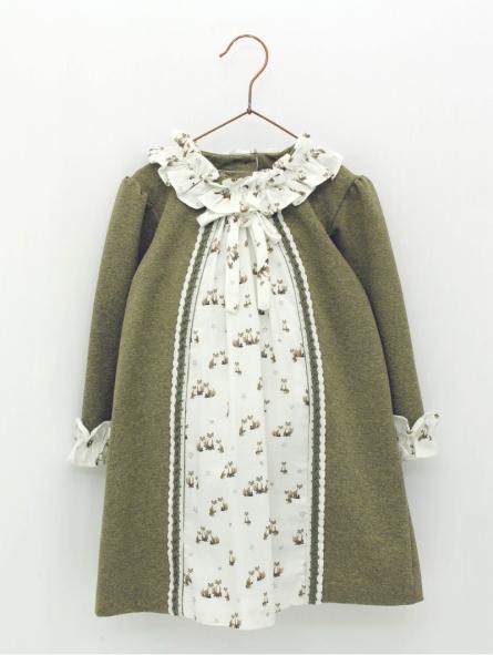 Vestido bebé criança com peça estampado zorritos