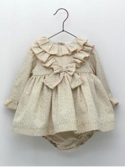 Vestido jesusito bebé criança estampado floral