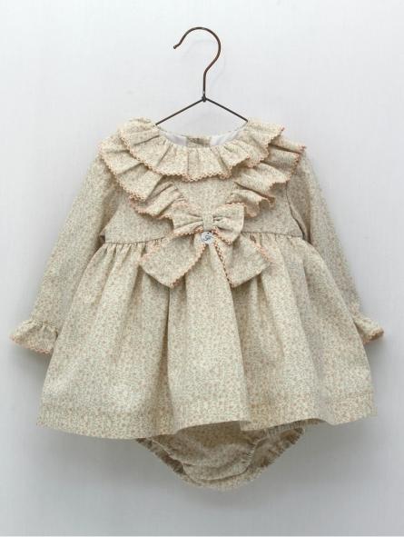 Vestido jesusito bebé niña estampado floral