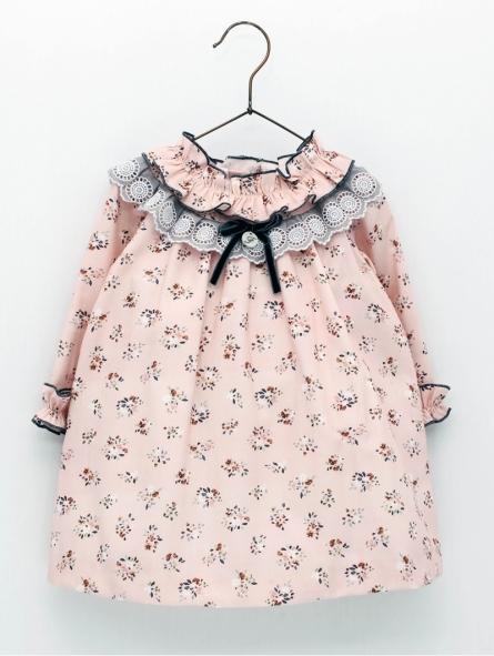 Vestido criança estampado floral