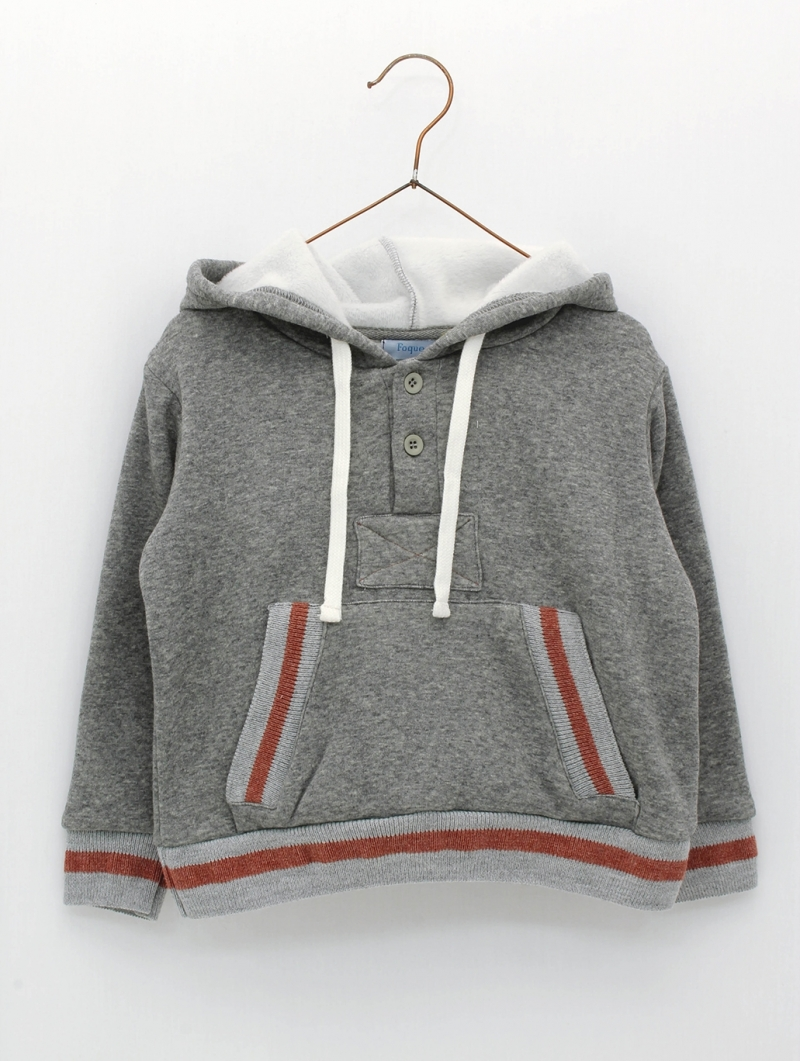 Boy hoodie with Sixtytwo print