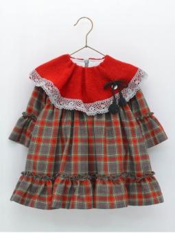 Checked baby girl dress