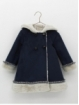 Double-faced baby girl coat