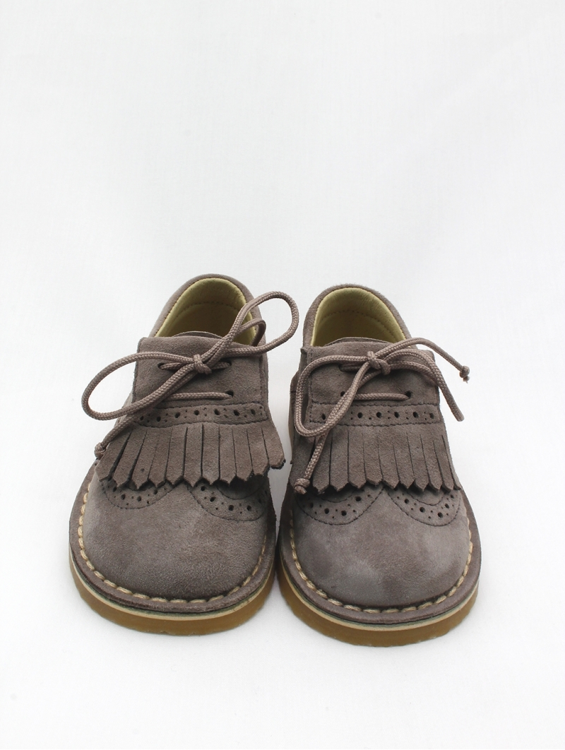 Boy/girl blucher shoes lined in leather