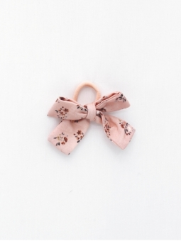 Hair band with floral print bow