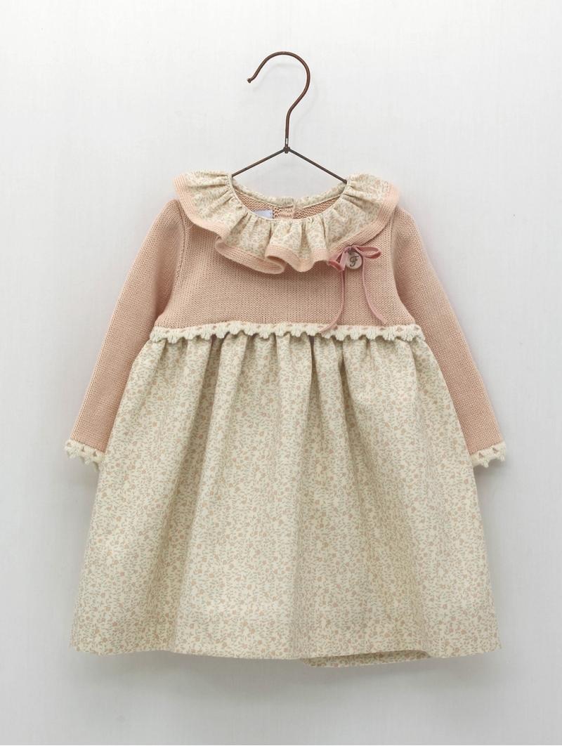 Vestido faldón bebé niña estampado floral