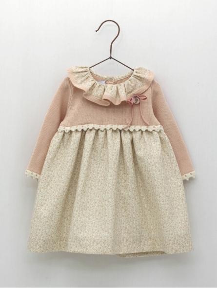 Vestido faldón bebé criança estampado floral