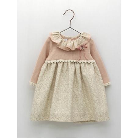 Skirt-like dress with flowered pattern