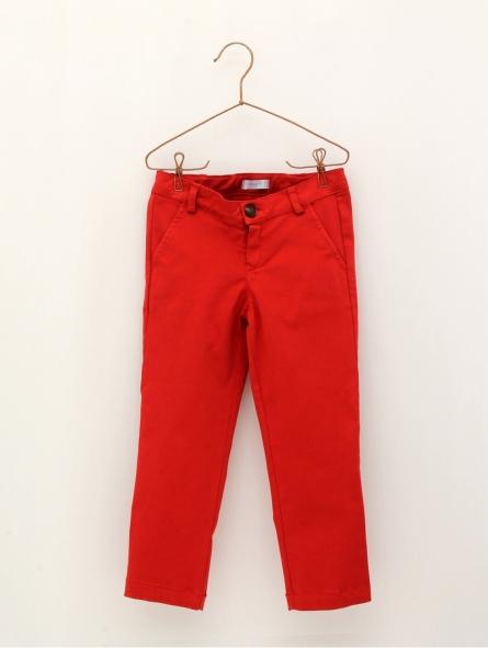 Basic canvas boy trousers