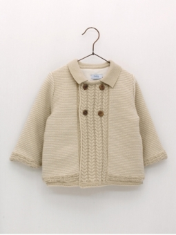 Baby lined duffle coat with double breasting