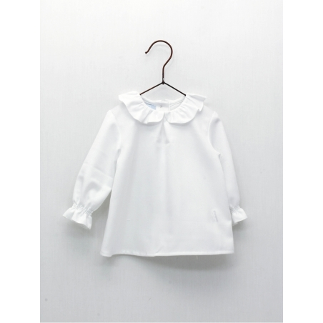 Baby blouse with ruffle collar