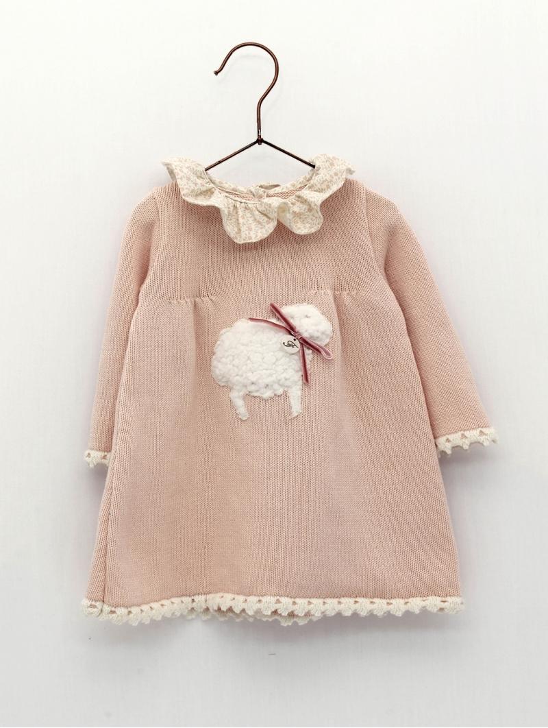 Vesido bebé criança ponto ovejita