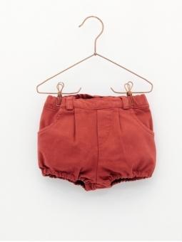 Calça cuequinha bebé tecido jeans básica borrachas