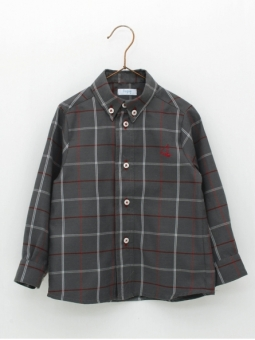 Camisa niño cuadro ventana