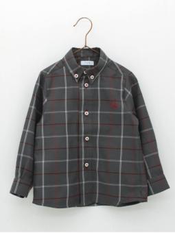 Window plaid boy shirt