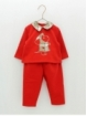 Baby boy plush sweater and trousers with embroidered drog