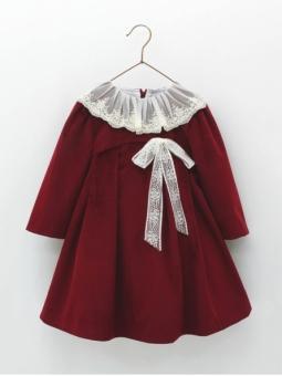 Velvet ceremony girl dress
