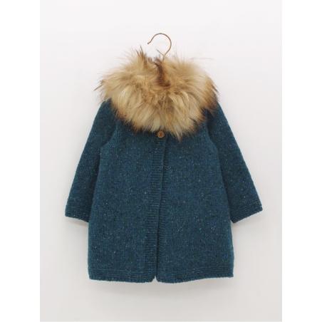Baby girl coat with fur collar