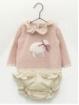 Camisola bebé criança ovejita e cuequinha flores