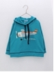 Boy hoodie with plane