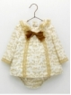 Baby girl dress and bloomers in toile de jouy