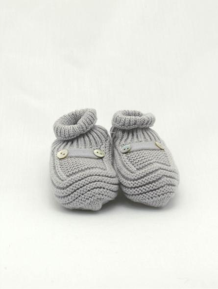 Patucos bebé algodão e cachemir