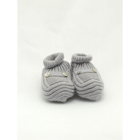 Patucos bebé algodón y cachemir