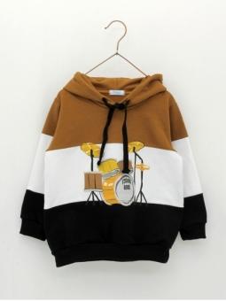 Drums patterned boy sweatshirt