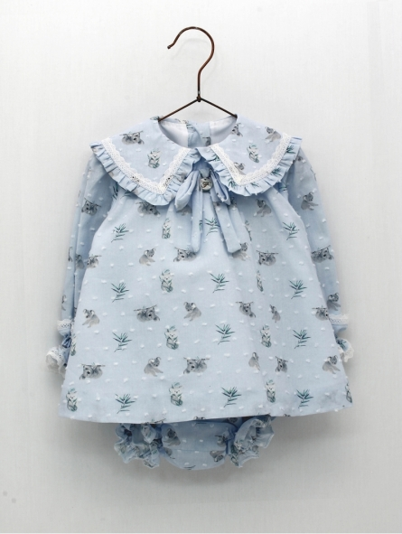 Baby girl dress with koala print
