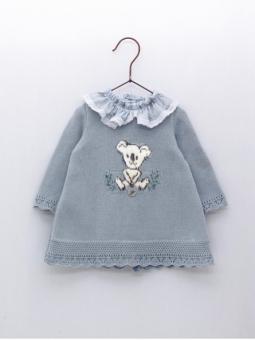 Koala baby girl knitted dress