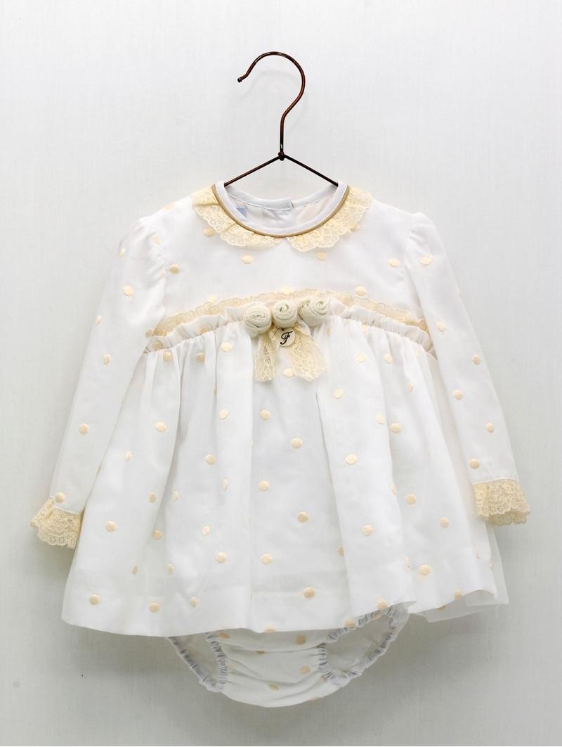 Vestido jesusito bebé criança bodoque bordado