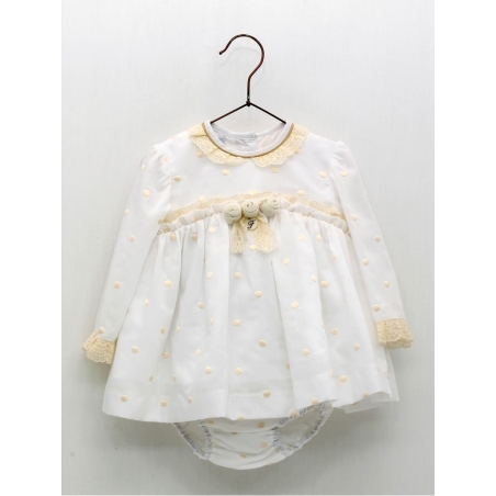 Vestido jesusito bebé niña bodoque bordado