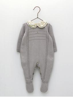 Pelele entero bebé con cuello con vainica