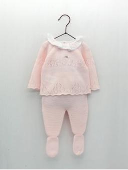 Set bebé criança primeira posta camisola e polaina
