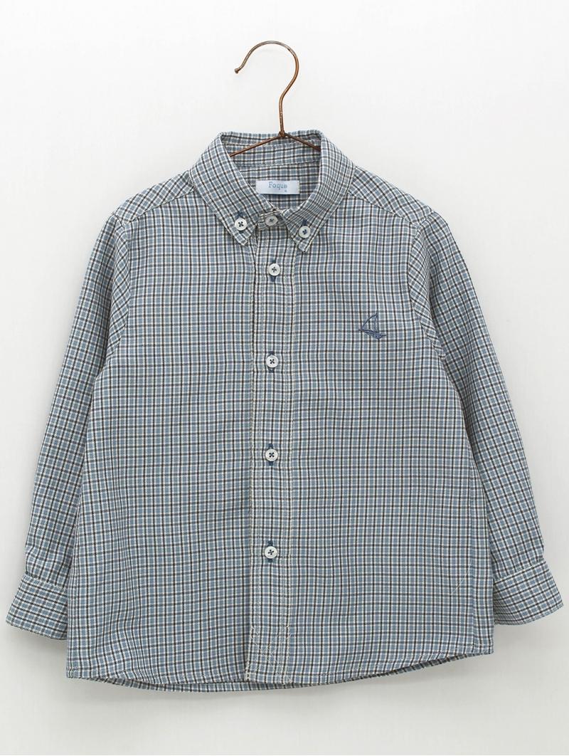Camisa niño estampado cuadros