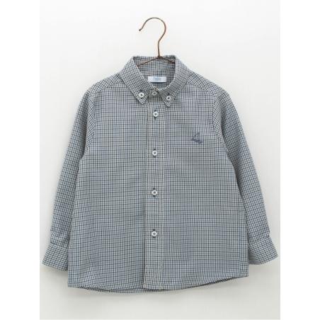 Camisa criança estampado quadros