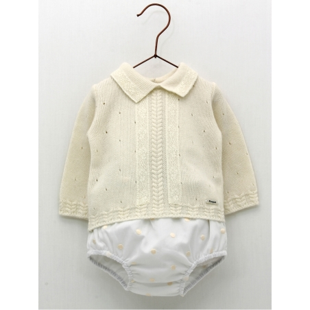 Baby boy sweater and bobble bloomers
