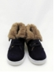 Split leather boy/girl boots with fur linning
