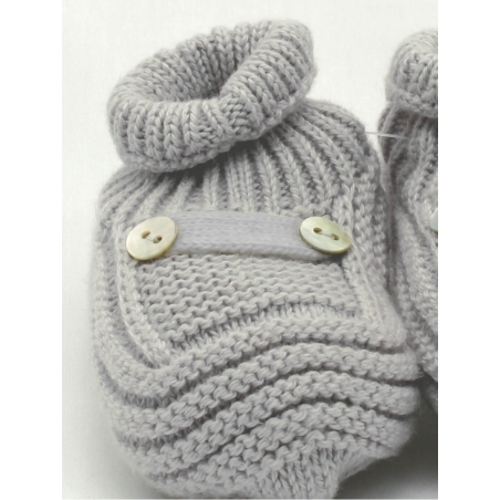 Cotton and cachemire baby booties