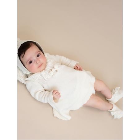 Vestido bebe criança ponto com enfeito flores