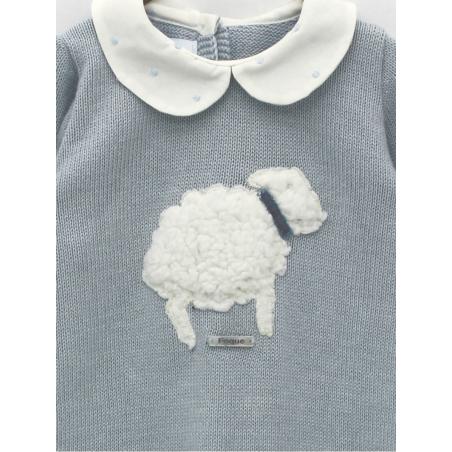 Pelele inteiro ponto com bordado ovejita