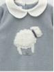 Pelele entero punto con bordado ovejita