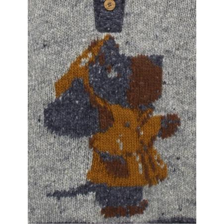 Camisola capucha bebé criança desenho cão com gabardina