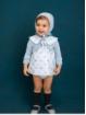 Jaqueta bebé criança em pontas redondas