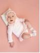 Jersey bebé niña efecto bodoque y cuello volante