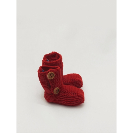 Coloured knitted baby boot