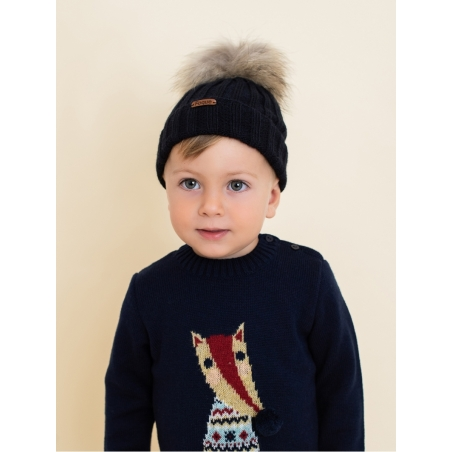 Baby sweater with fox drawing