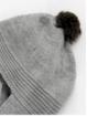 Gorro bufanda con pompón de pelo natural