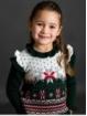 Girl jumper with reindeer fretwork