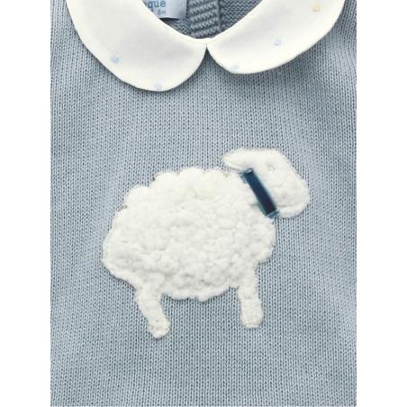 Conjunto bebé criança bordada ovejita